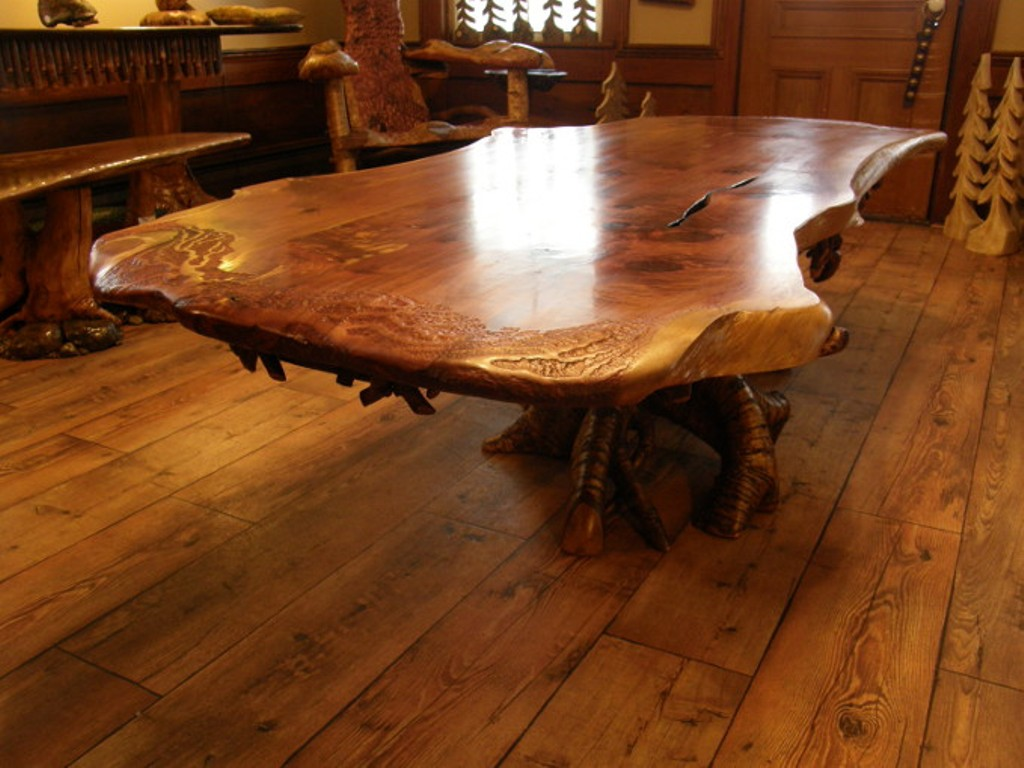Picture of: California Redwood Wood Slab Table Tops