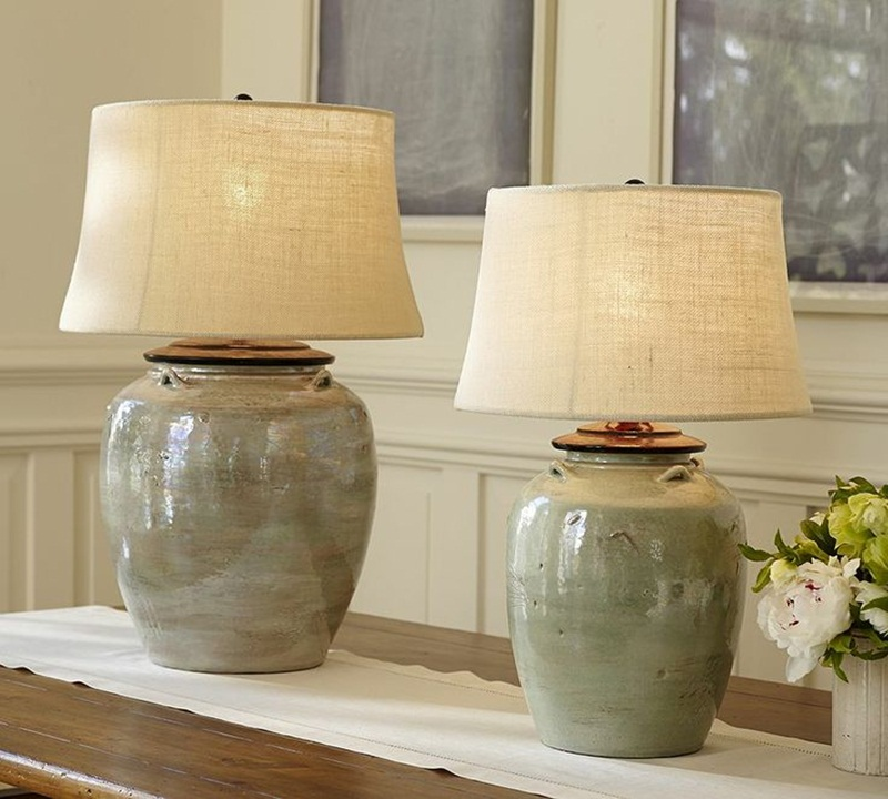 Image of: ceramic table lamps