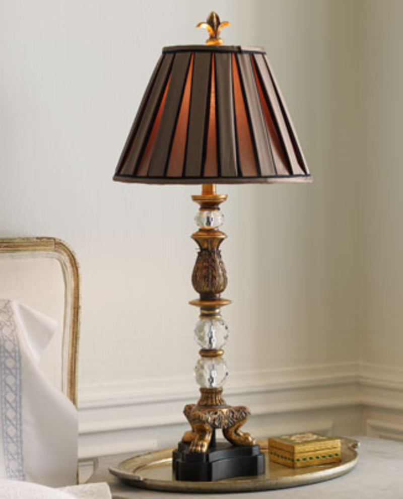 Picture of: Designer Chrome Table Lamps