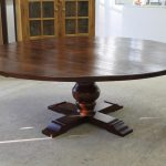 Large Reclaimed Wood Round Dining Table
