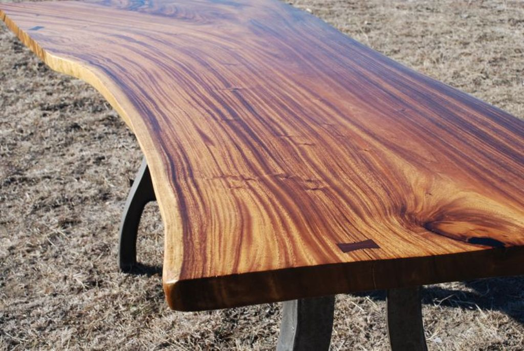 Picture of: limestone wood slab table tops