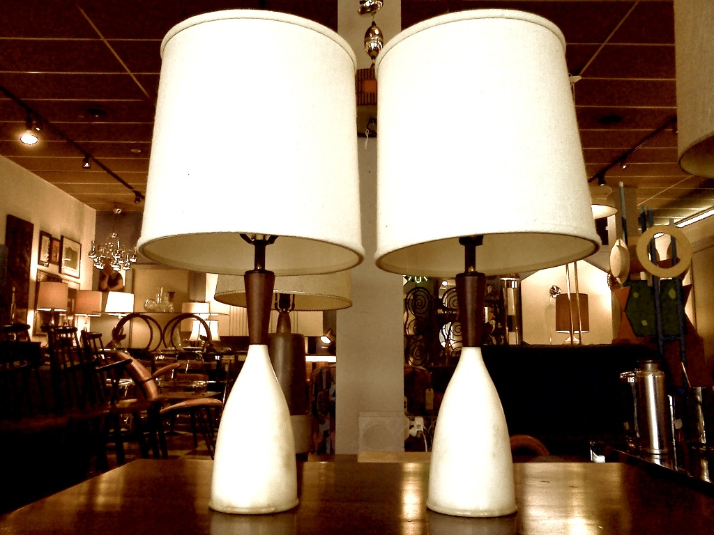 Picture of: mid century table lamp cylinder night light