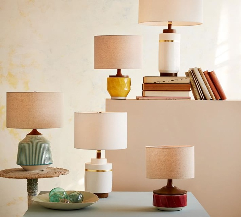 Image of: nice ceramic table lamps