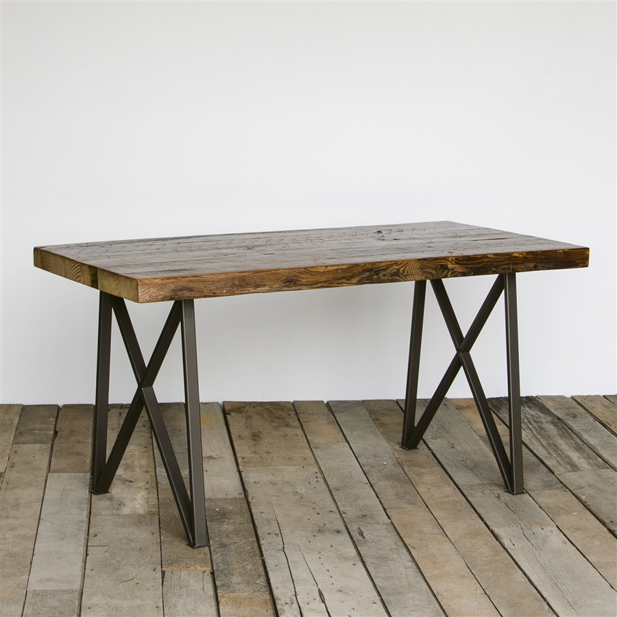 Picture of: reclaimed salvaged wood dining table