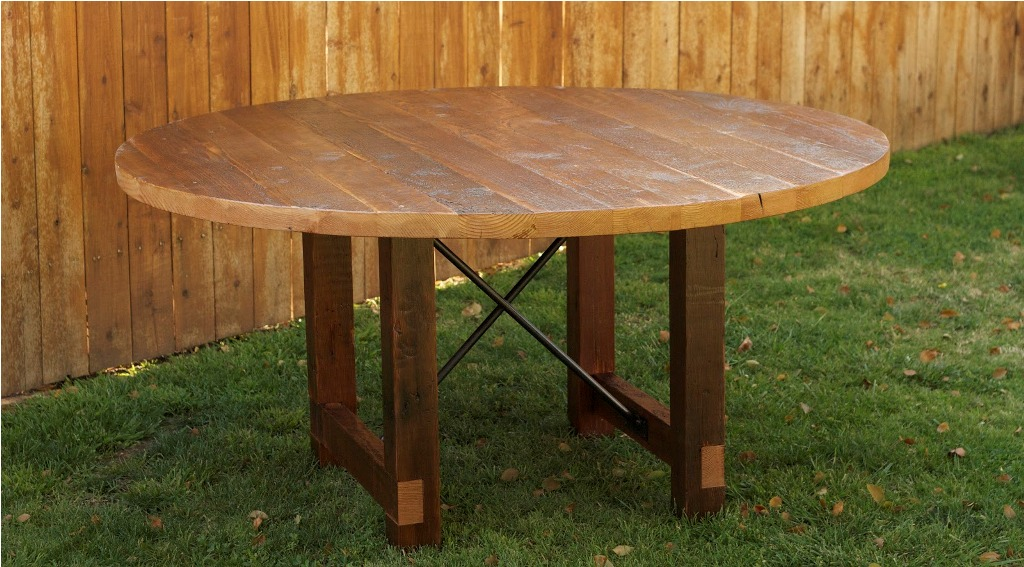 Picture of: reclaimed wood round dining table ideas