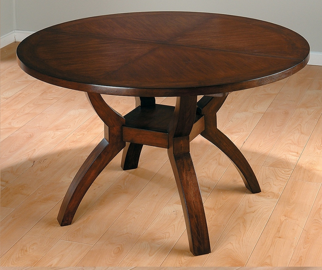 Image of: reclaimed wood round dining table images
