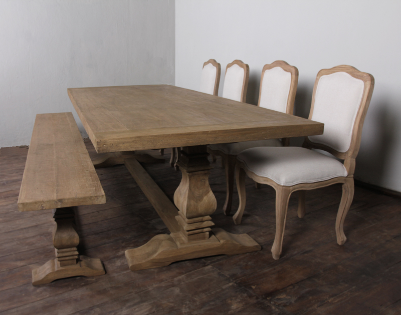 Picture of: salvaged wood dining table decor