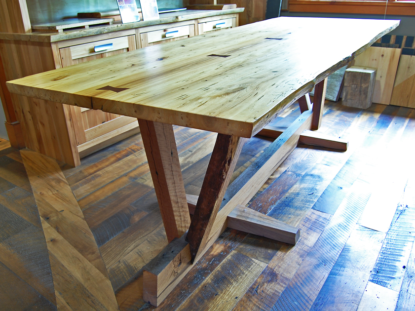 Picture of: salvaged wood dining table design