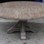 Unfinished Reclaimed Wood Round Dining Table