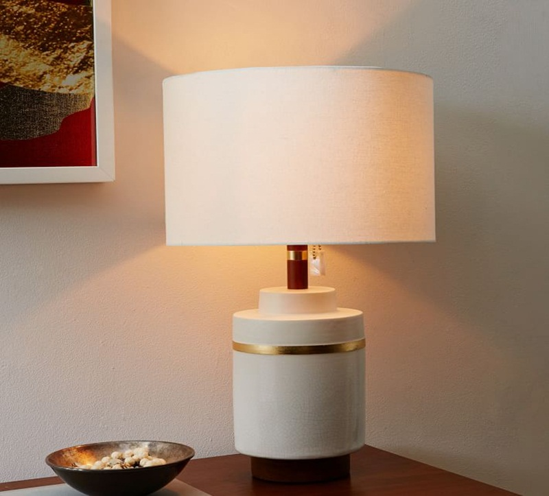 Image of: white ceramic table lamps