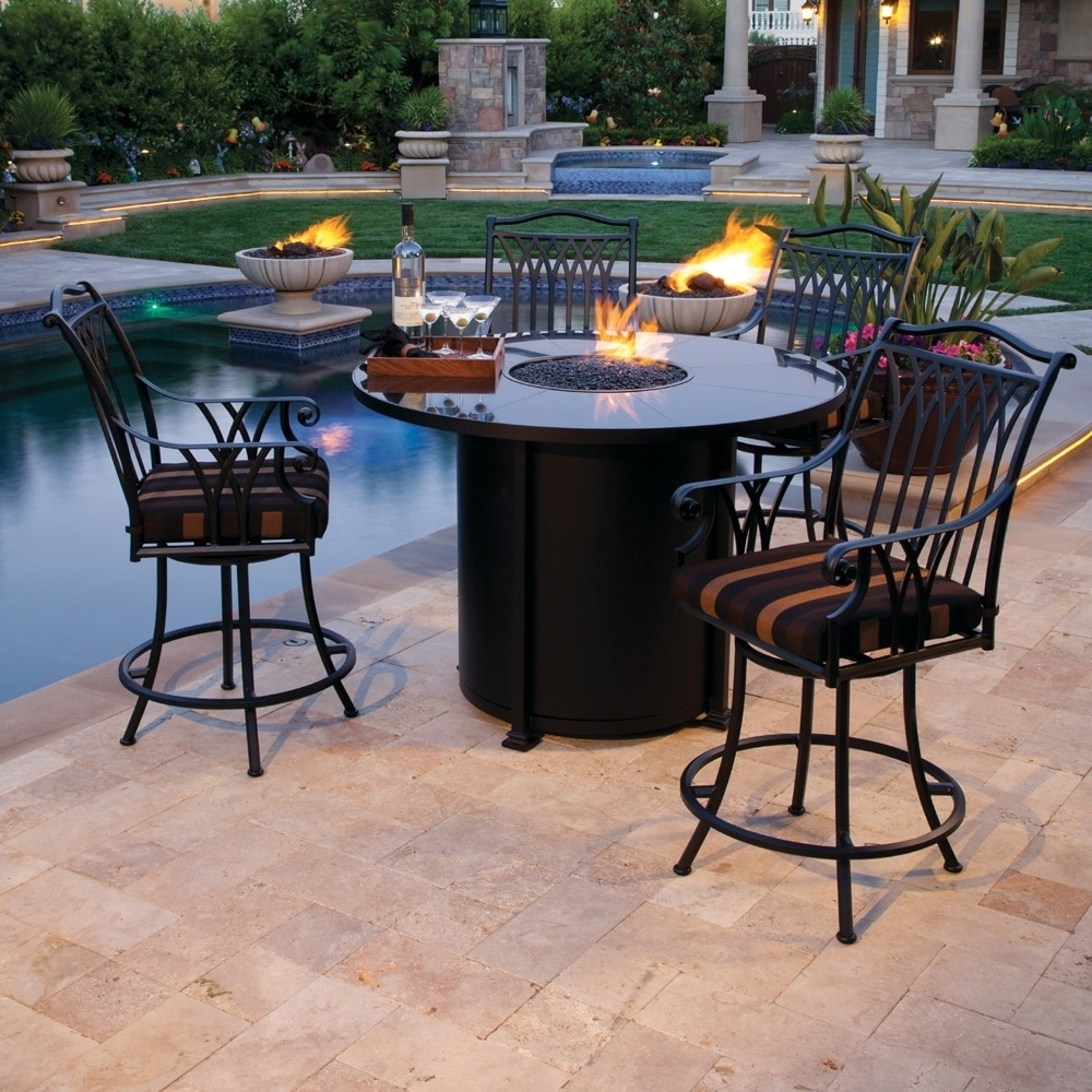 Image of: Propane Gas Fire Pits Patio Firepit Dining Table Fire