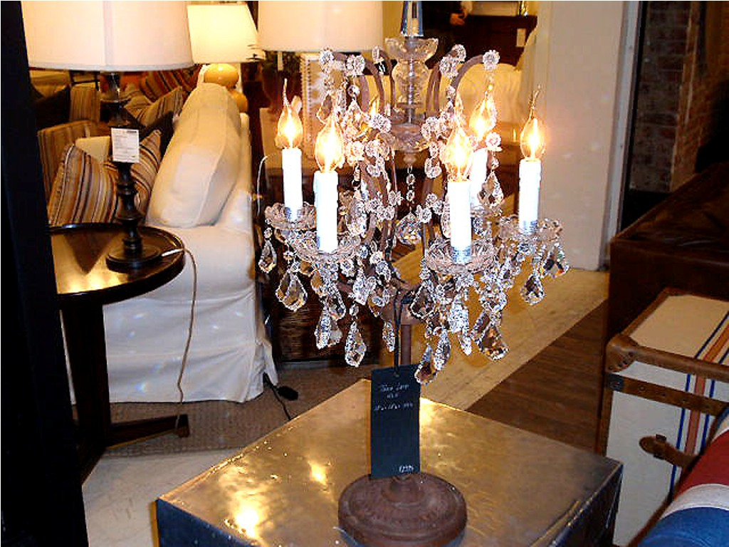 Picture of: Antique Crystal Table Lamps