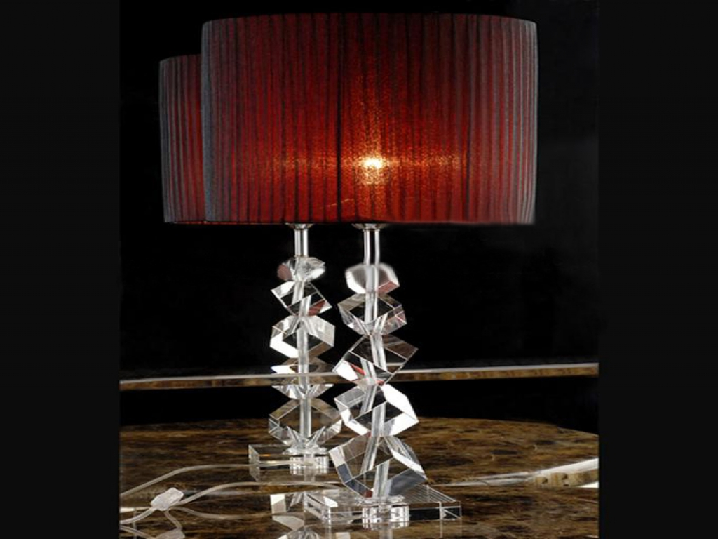 Picture of: Crystal Table Lamps for Living Room