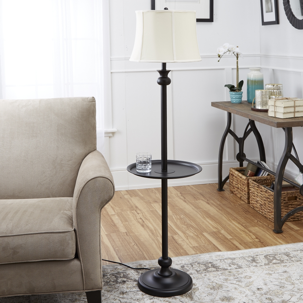 Image of: Floor Lamp with Table Design