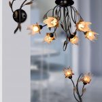 Iron Chandelier Table Lamp