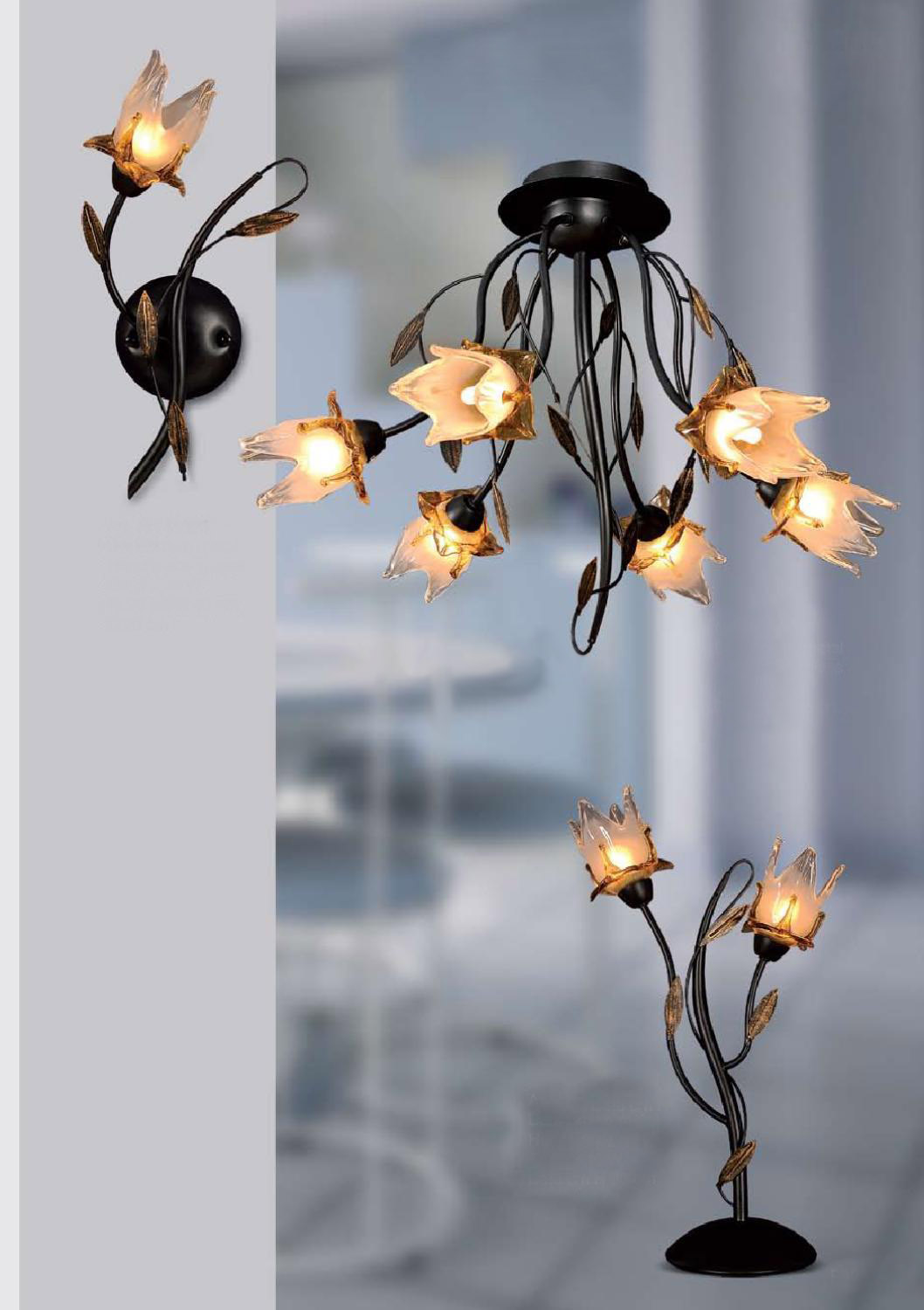 Picture of: Iron Chandelier Table Lamp