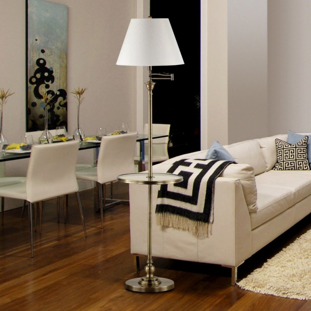 Picture of: Modern Floor Lamp with Table
