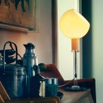 Small Blown Glass Table Lamp