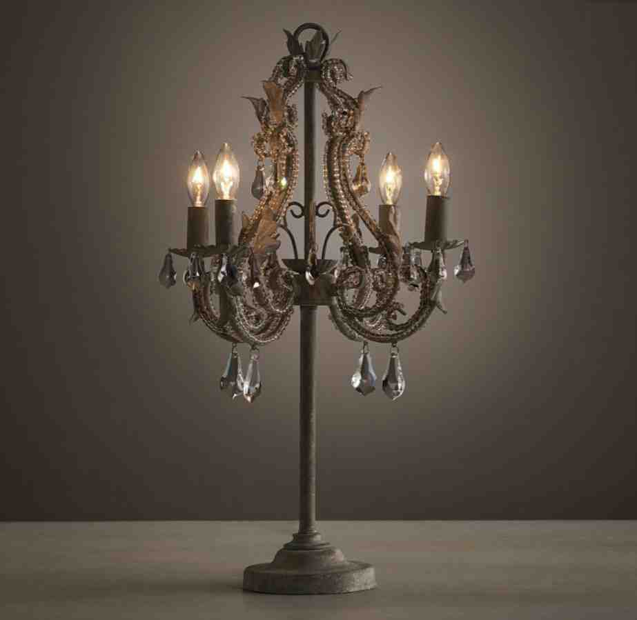 Picture of: Stylish Chandelier Table Lamp