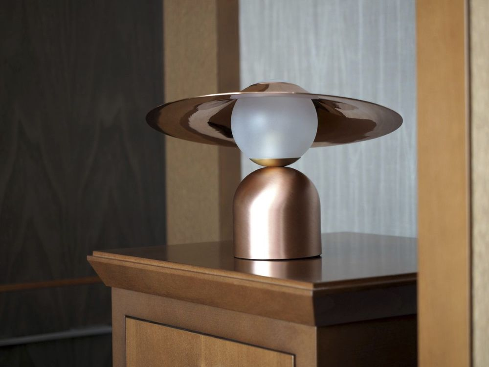 Image of: Unique Blown Glass Table Lamp