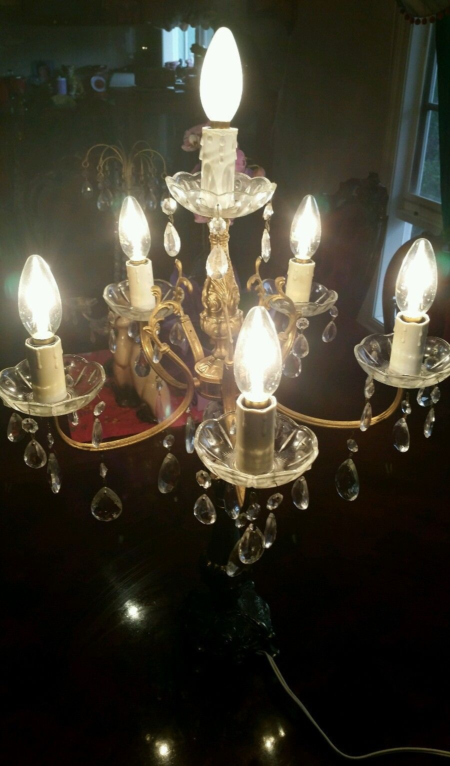 Vintage Chandelier Table Lamp