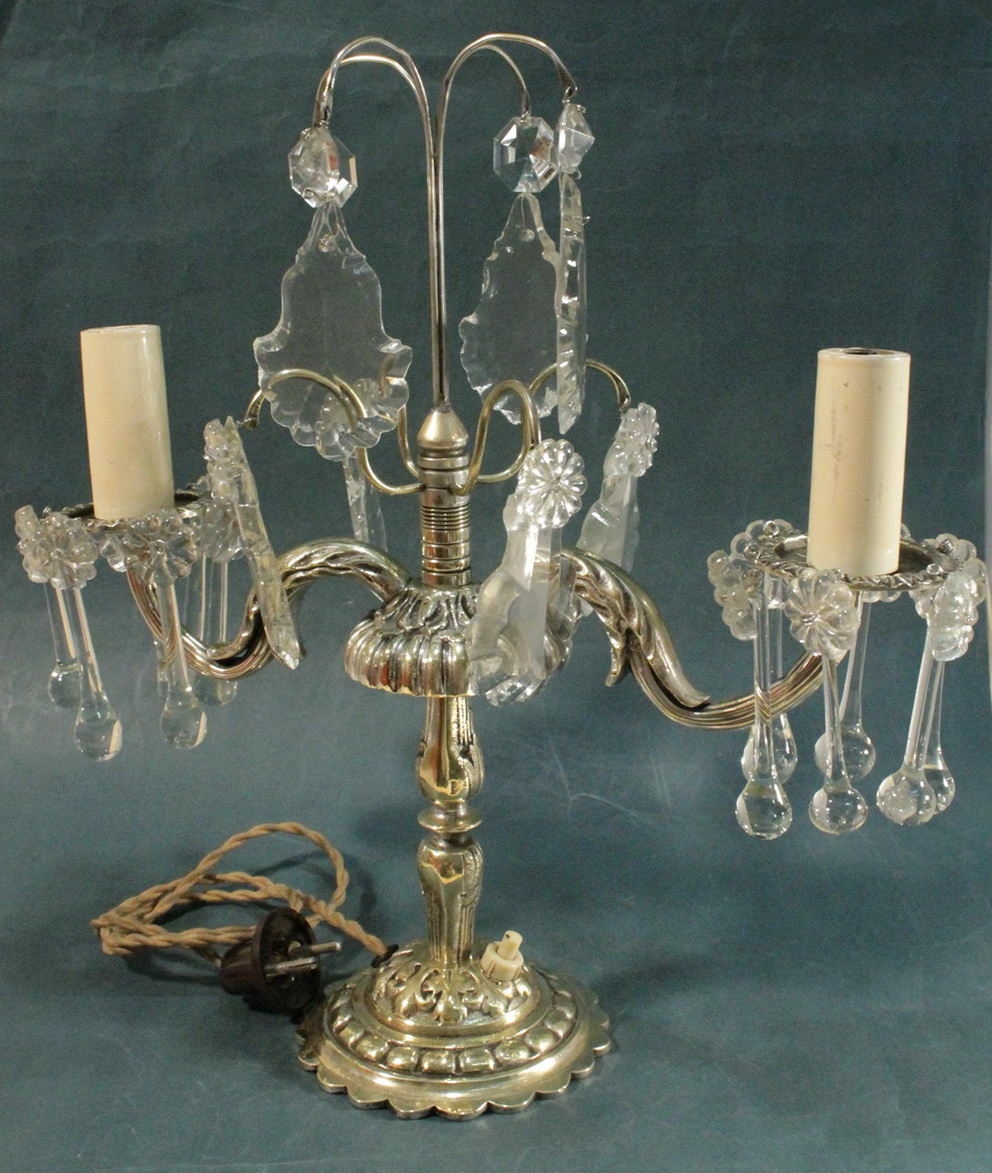 Image of: Antique Chandelier Table Lamps