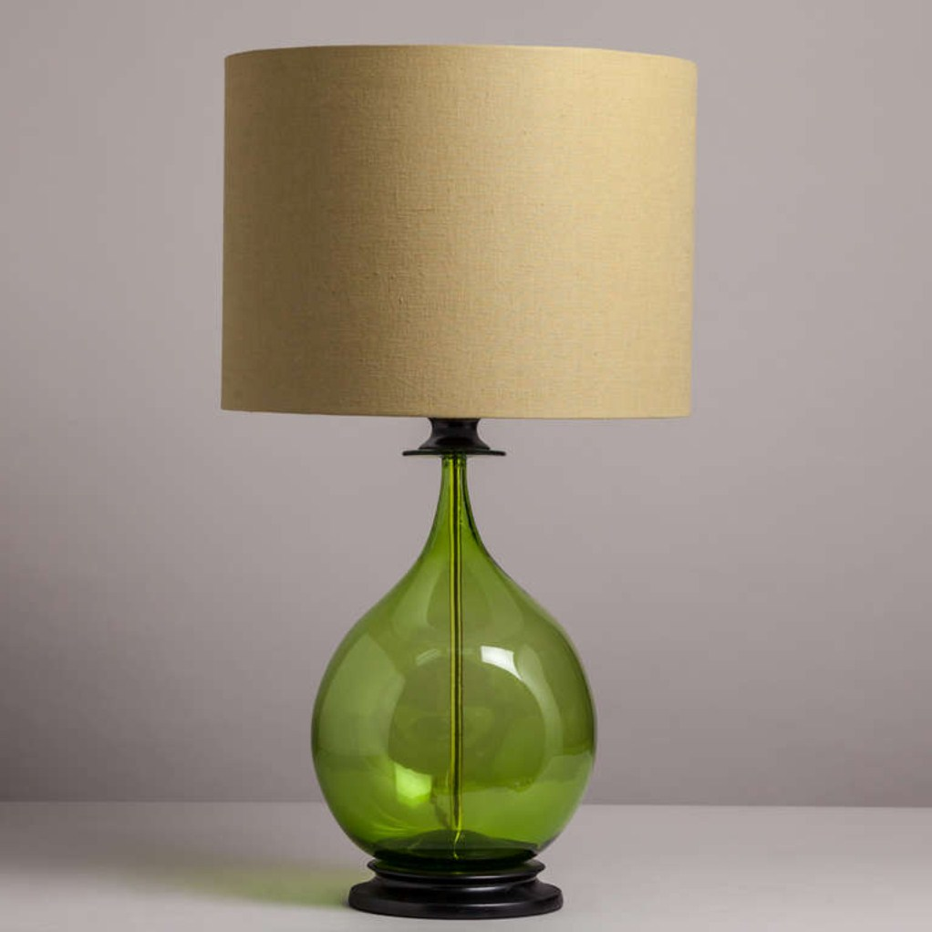 Image of: Green Glass Lamp Shades for Table Lamps