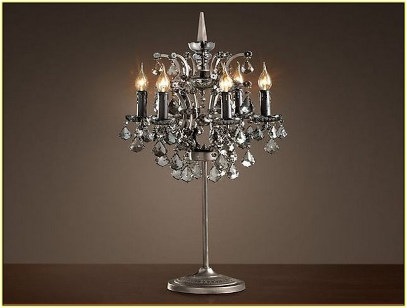 Picture of: Crystal Chandelier Table Lamp