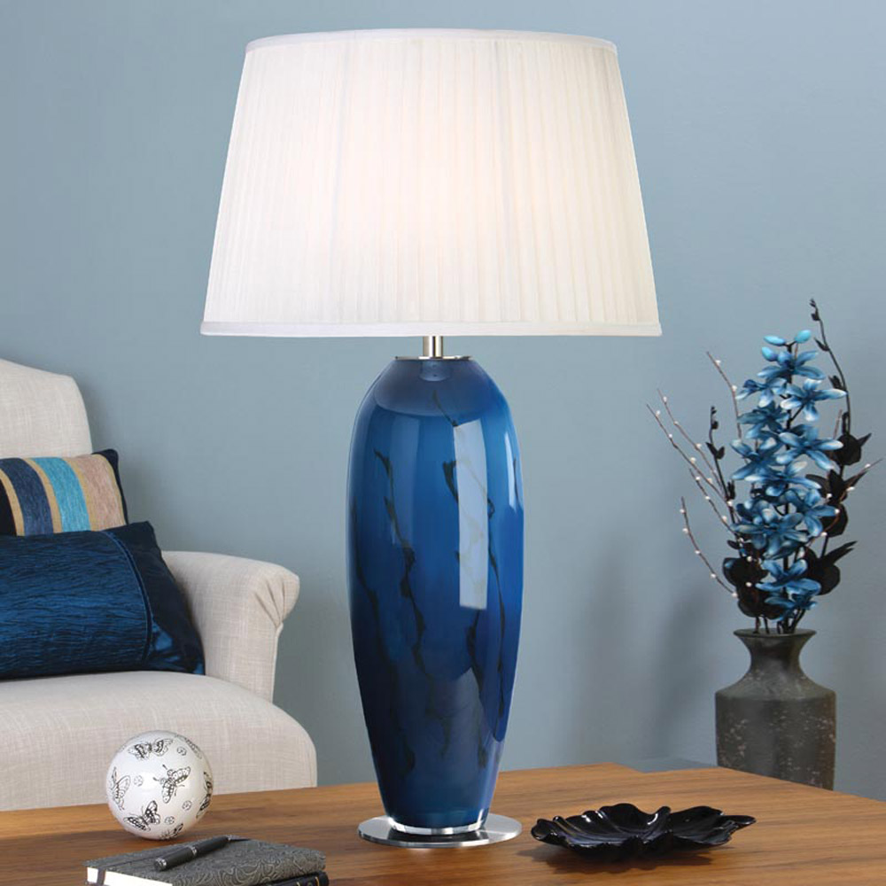 Image of: Blue Glass Lamp Shades for Table Lamps