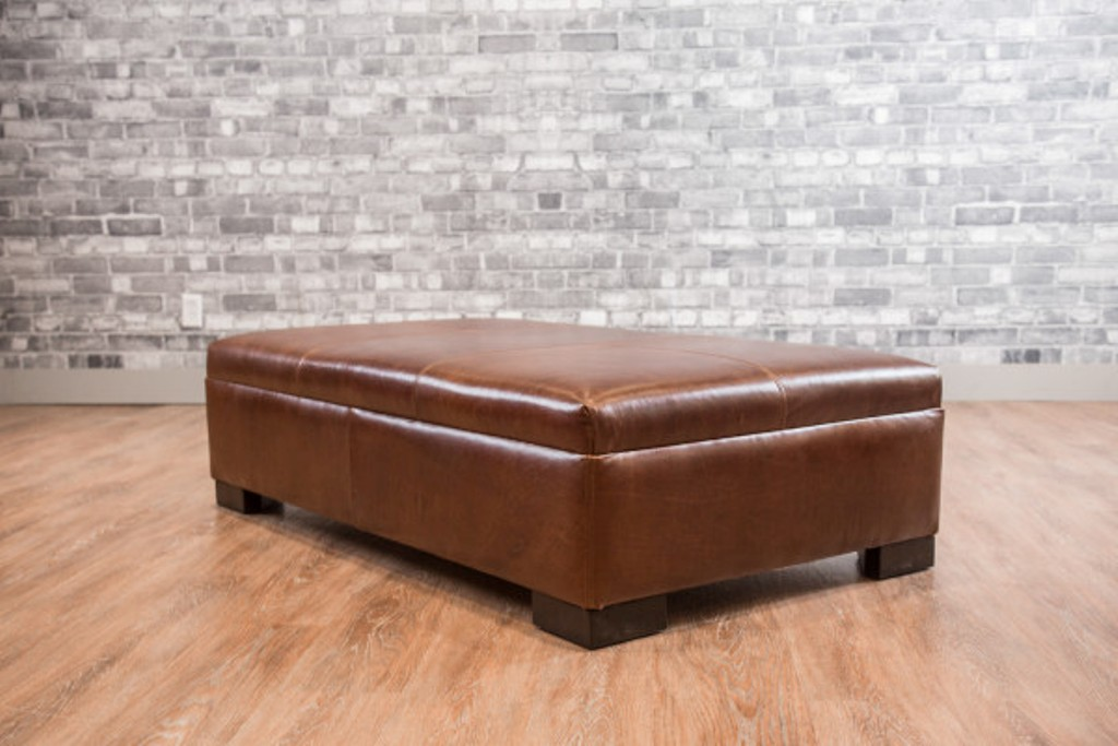 Picture of: Leather Ottoman Coffee Table Canada