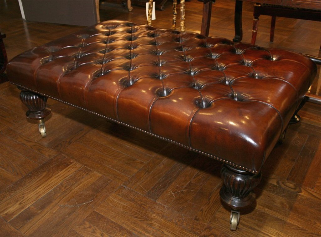 Picture of: Leather Ottoman Coffee Table