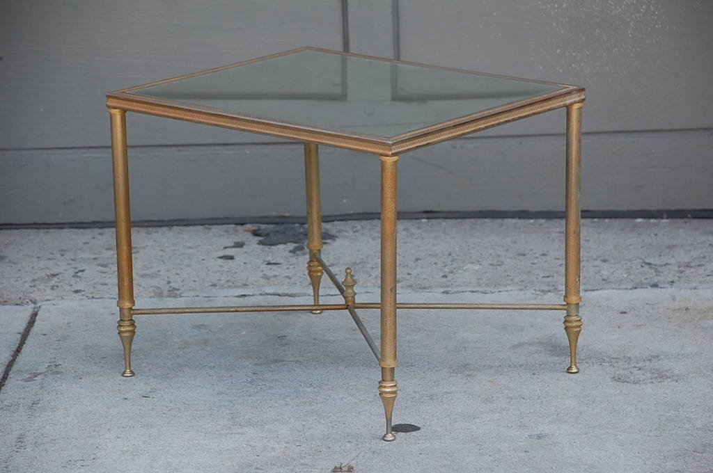 Picture of: Antique Mirrored End Table