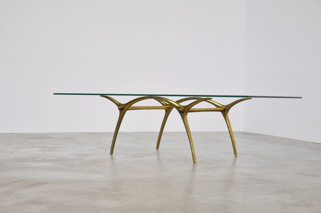 Picture of: Brass Coffee Table Base