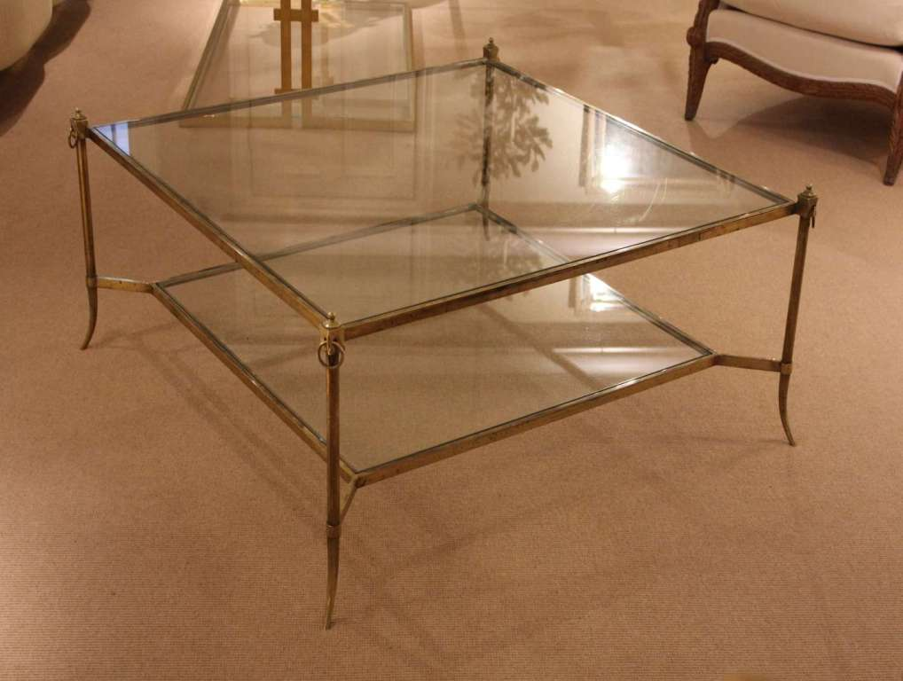 Picture of: Brass Coffee Table Square