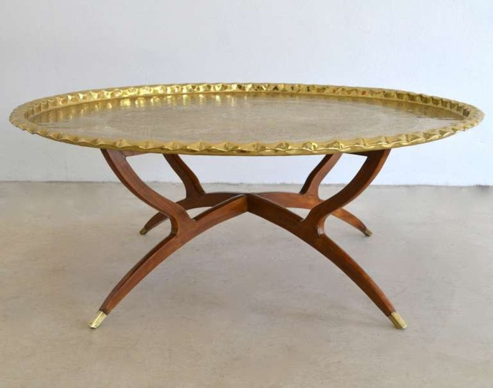 Image of: Brass Coffee Table Tray