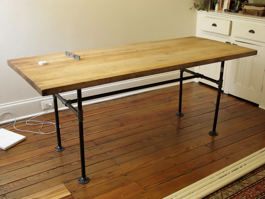 Picture of: Butcher Block Table Diy