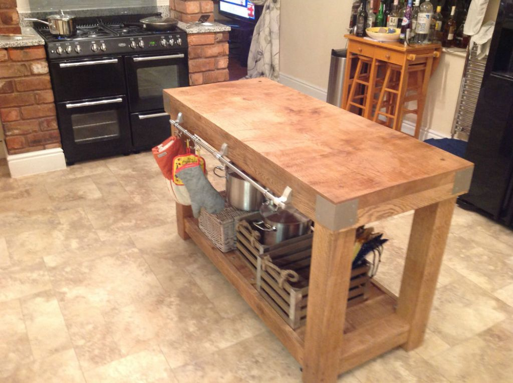 Picture of: Butcher Block Tables With Storage