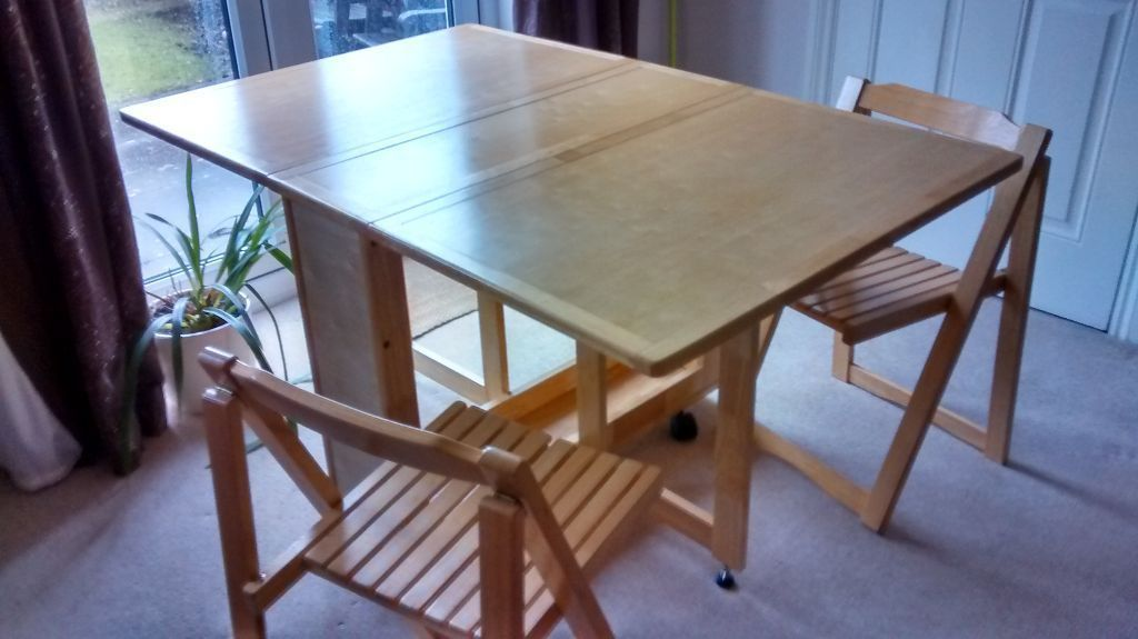 Picture of: Drop Leaf Table And Chairs Ikea