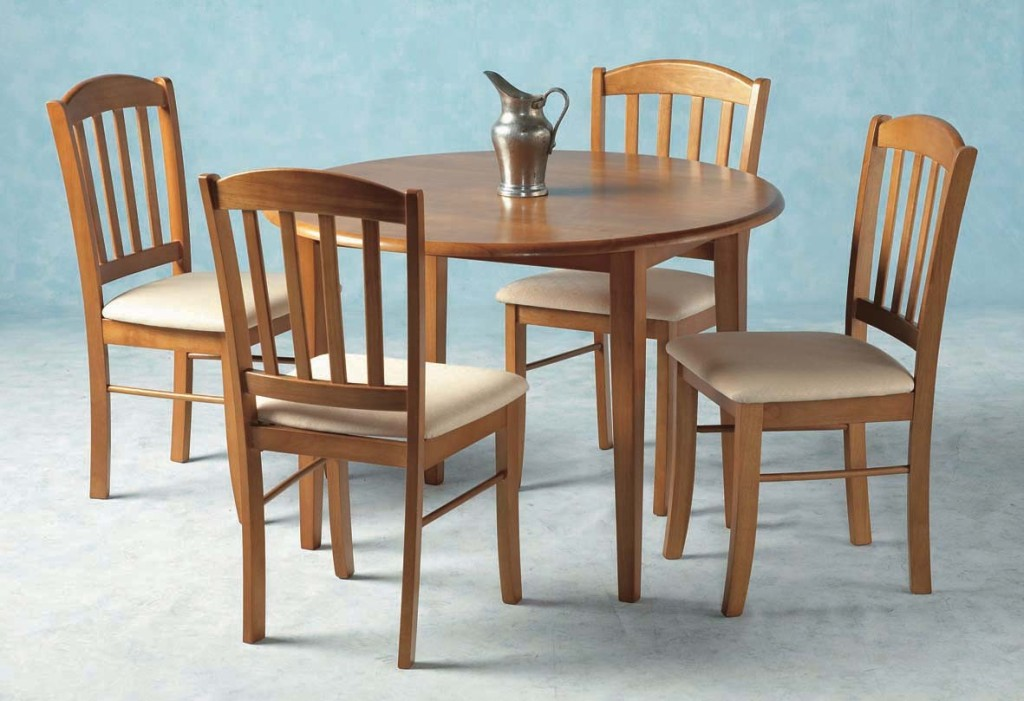 Image of: Drop Leaf Table And Chairs Set