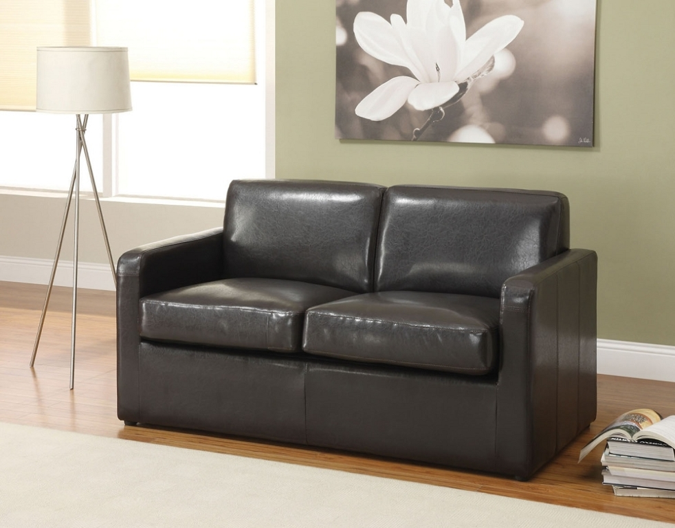 Picture of: Leather Sofa Sleeper Full
