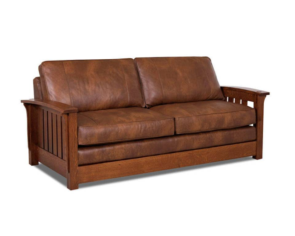 Image of: Leather Sofa Sleeper Loveseat