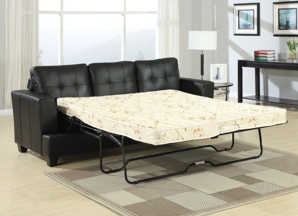 Image of: Leather Sofa Sleeper Queen Size