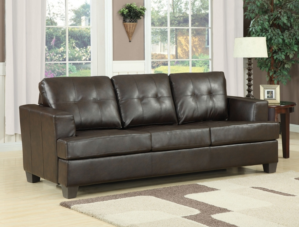 Image of: Leather Sofa Sleeper Queen