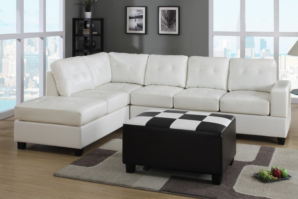 Image of: Leather Sofa Sleeper Sectional