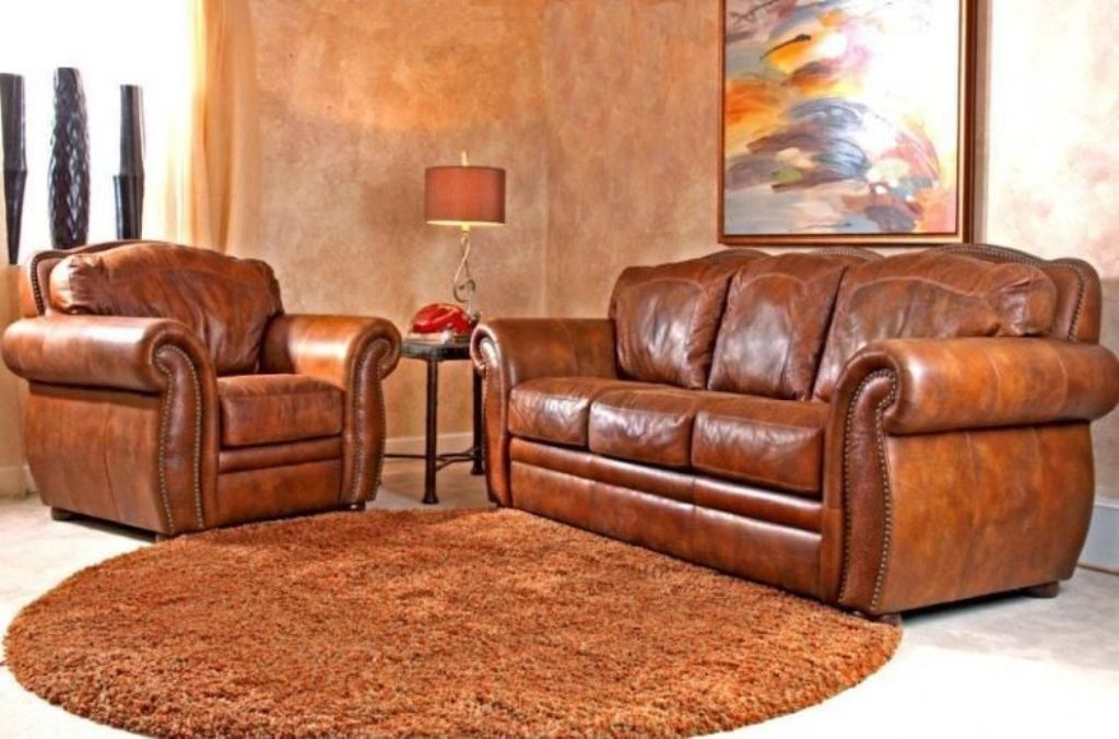 Image of: Leather Sofa Sleeper Sets