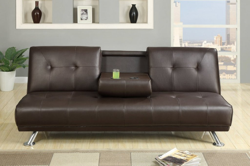 Image of: Leather Sofa Sleeper Twin
