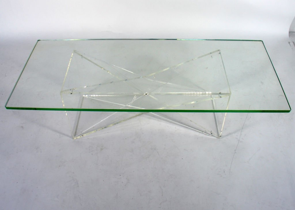 Picture of: Lucite Coffee Table Base
