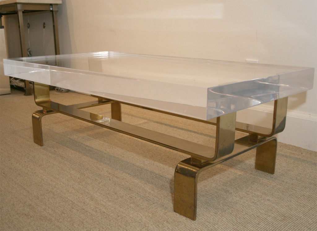 Picture of: Lucite Coffee Table Craigslist