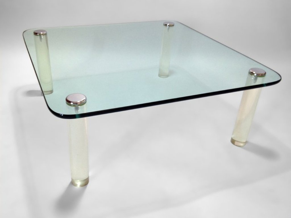 Picture of: Lucite Coffee Table Legs