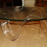 Lucite Coffee Table Round